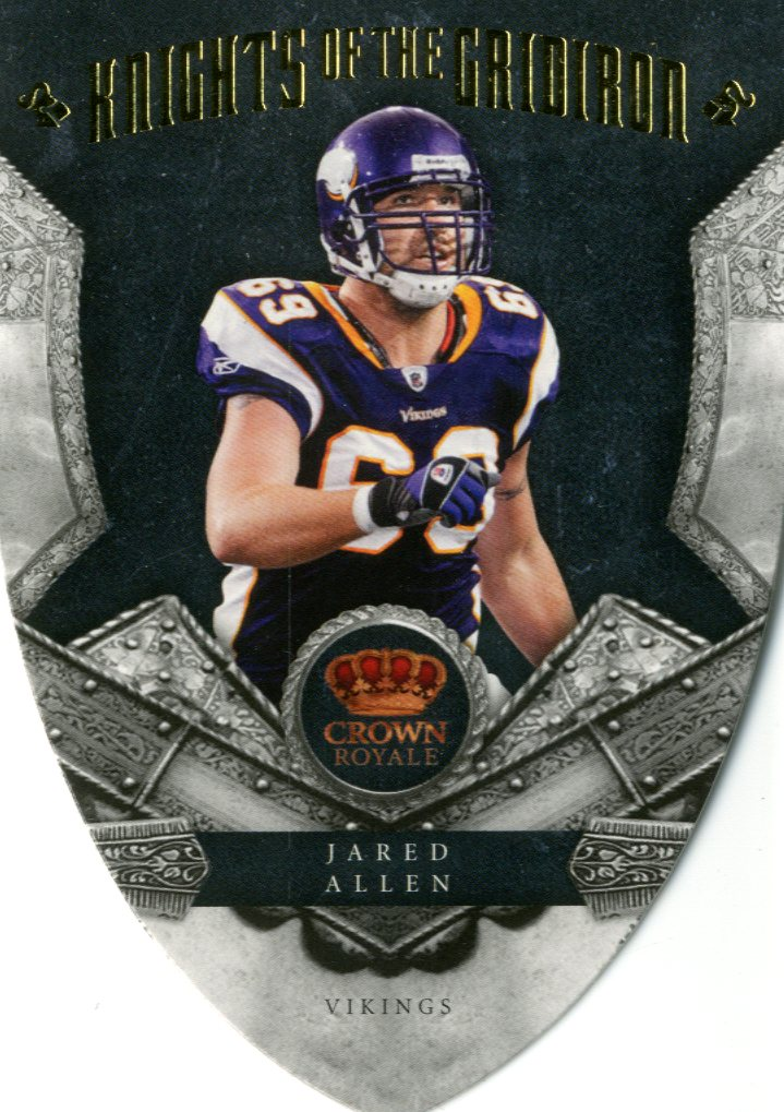 2011 Crown Royale Knights of the Gridiron Gold #1 Jared Allen
