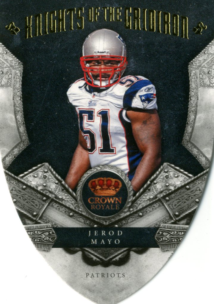 2011 Crown Royale Knights of the Gridiron Gold #4 Jerod Mayo