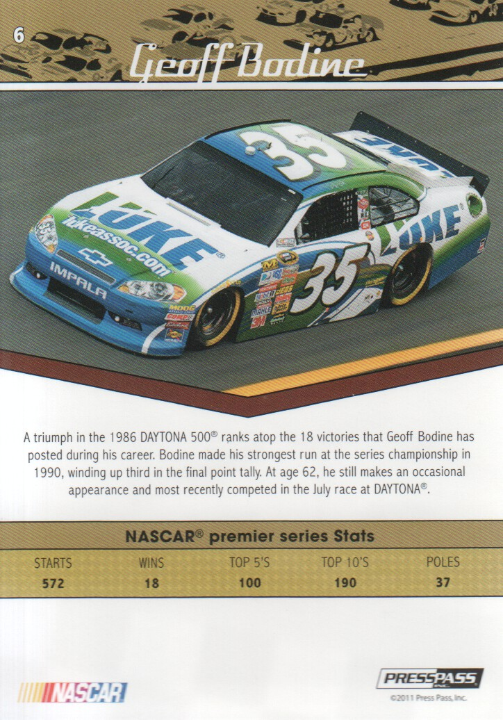 2011-Press-Pass-Legends-Parallels-NASCAR-Racing-Cards-Pick-From-List thumbnail 3