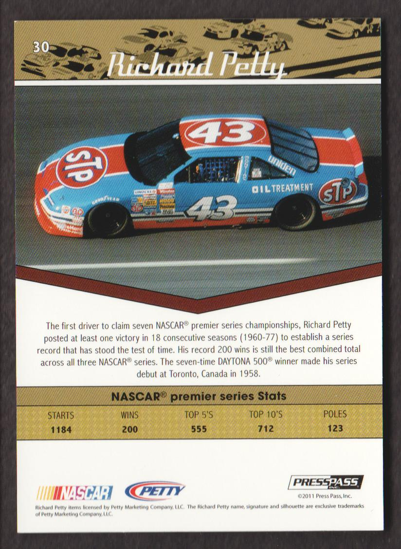 2011-Press-Pass-Legends-Parallels-NASCAR-Racing-Cards-Pick-From-List thumbnail 15