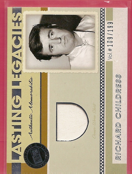 2011 Press Pass Legends Lasting Legacies Memorabilia Silver #LLRC Richard Childress/199