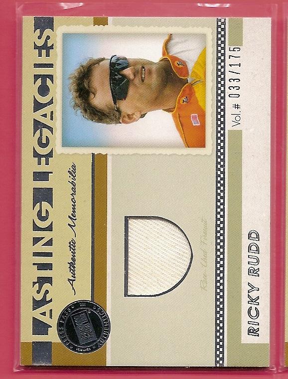2011 Press Pass Legends Lasting Legacies Memorabilia Silver #LLRR Ricky Rudd/175