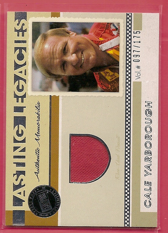 2011 Press Pass Legends Lasting Legacies Memorabilia Silver #LLCY Cale Yarborough/175