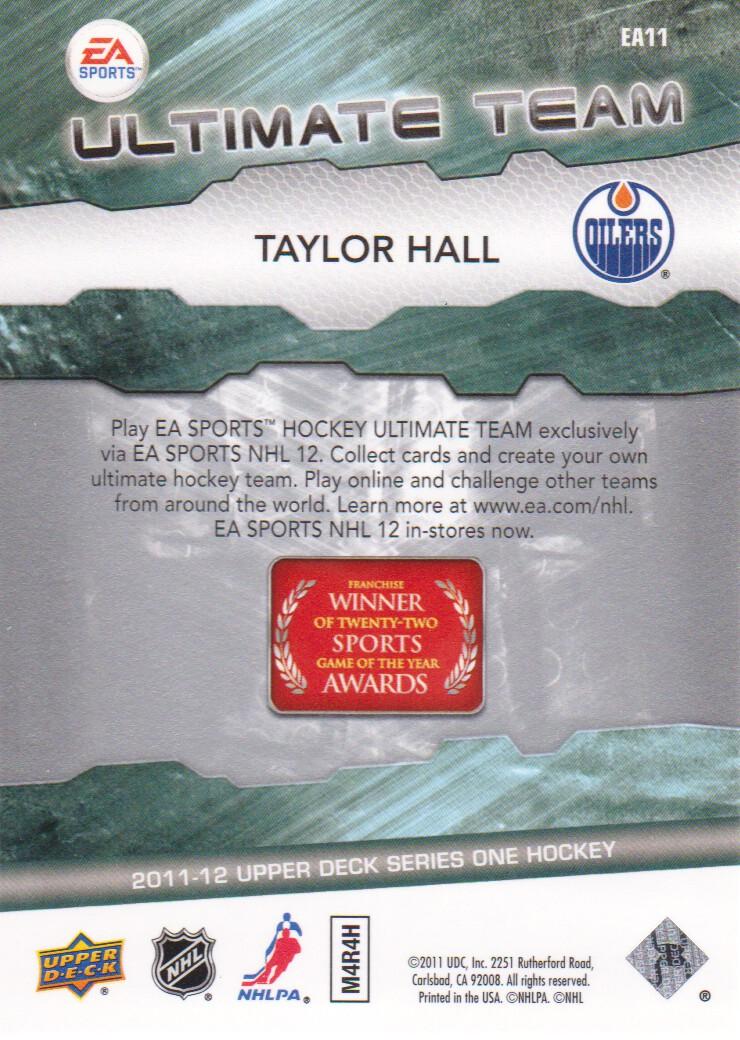 2011-12 Upper Deck EA Ultimate Team #EA11 Taylor Hall back image