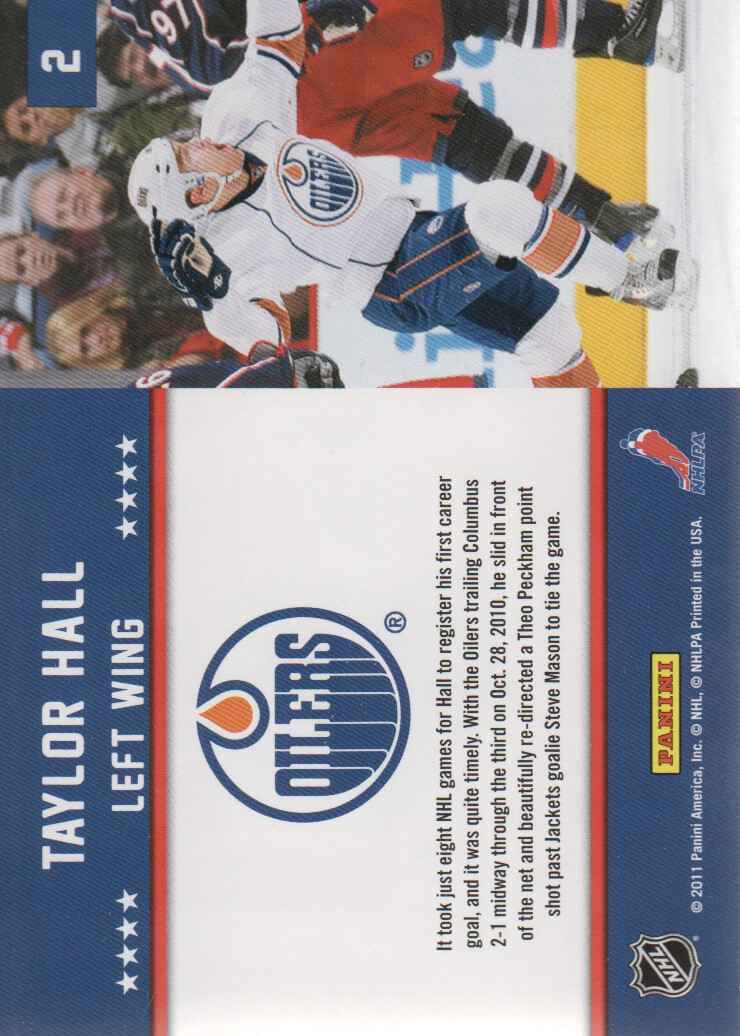 2011-12 Score First Goal #2 Taylor Hall back image