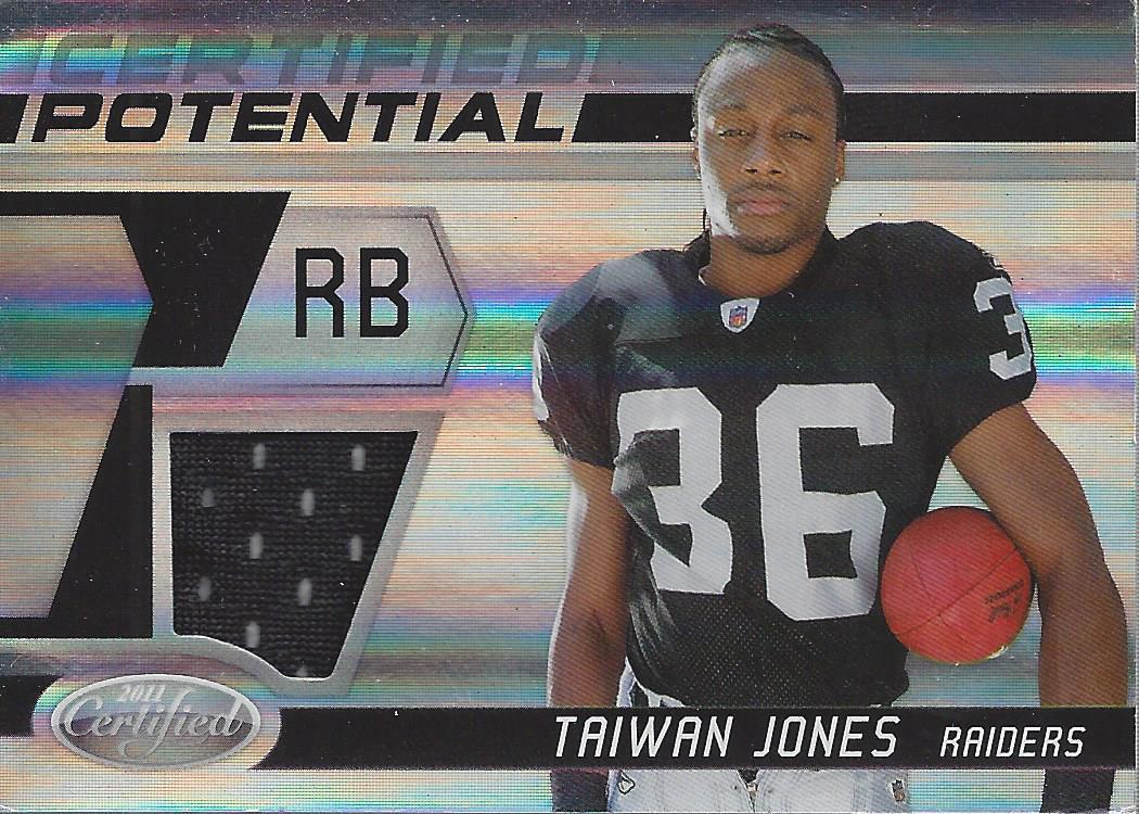 2011 Certified Certified Potential Materials #32 Taiwan Jones ...
