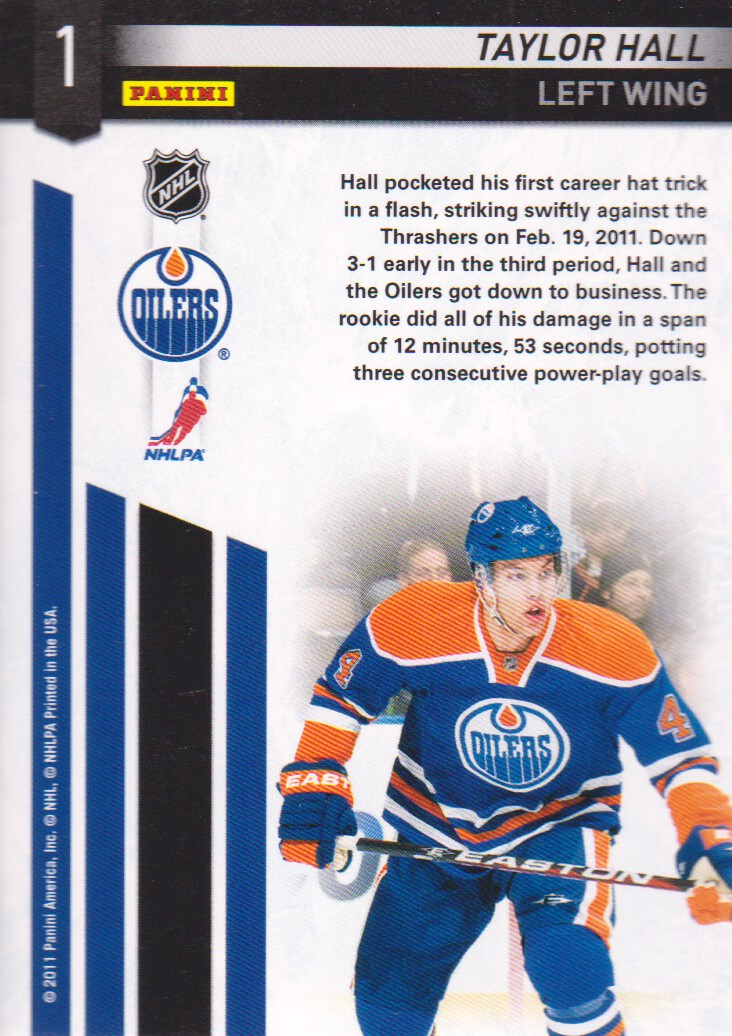 2011-12 Certified Potential #1 Taylor Hall back image