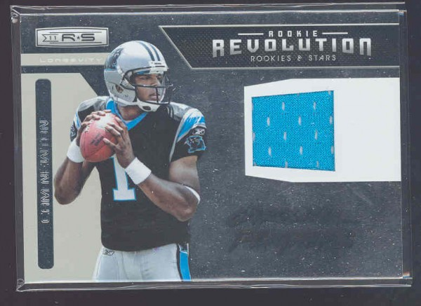2011 Rookies and Stars Longevity Rookie Revolution Materials #35 Cam Newton