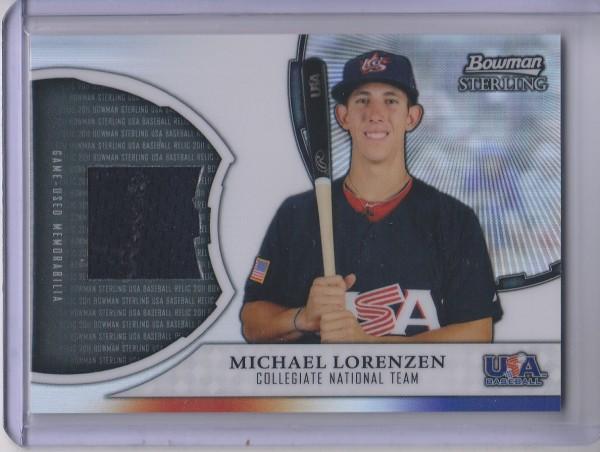 2011 Bowman Sterling USA Baseball Relics #ML Michael Lorenzen