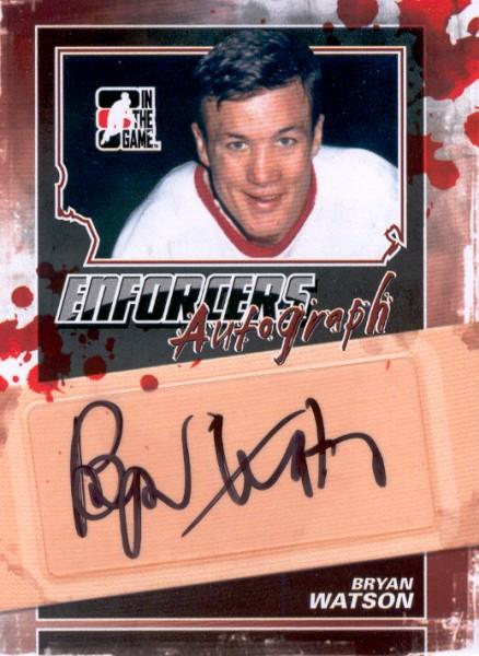 2011-12 ITG Enforcers Autographs #ABW Bryan Watson