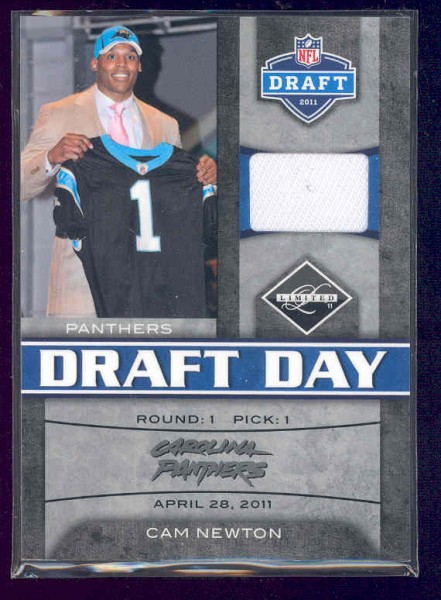 2011 Limited Draft Day Jerseys Prime #1 Cam Newton