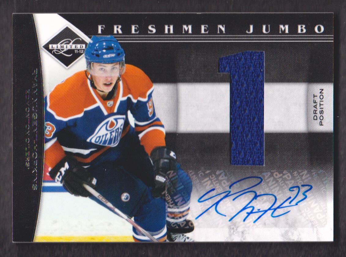 2011-12 Limited Freshmen Jumbo Materials Draft Position Signatures #4 Ryan Nugent-Hopkins/99