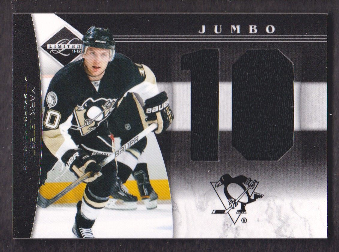 2011-12 Limited Jumbo Materials Jersey Numbers #37 Mark Letestu/49