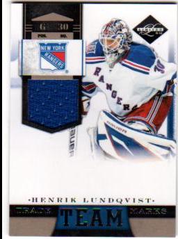 2011-12 Limited Team Trademarks Materials #17 Henrik Lundqvist