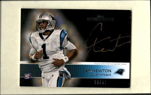 2011 Topps Precision Rookie Autographs Gold Ink #138 Cam Newton