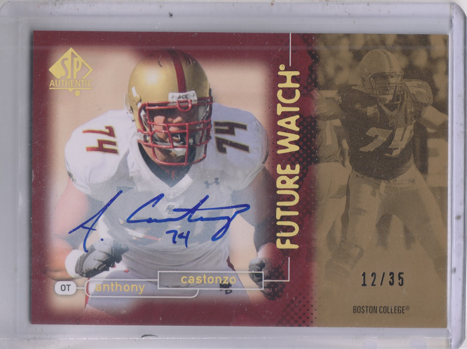 2011 SP Authentic Autographs Gold #120 Anthony Castonzo FW/35