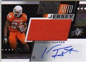 2011 SPx #55 Kendall Hunter JSY AU/225