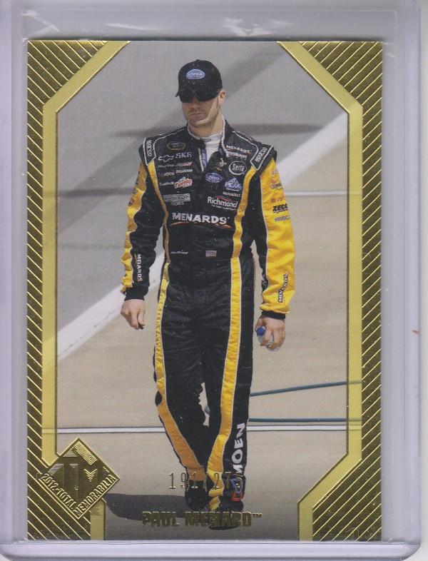 2012 Total Memorabilia Gold #24 Paul Menard