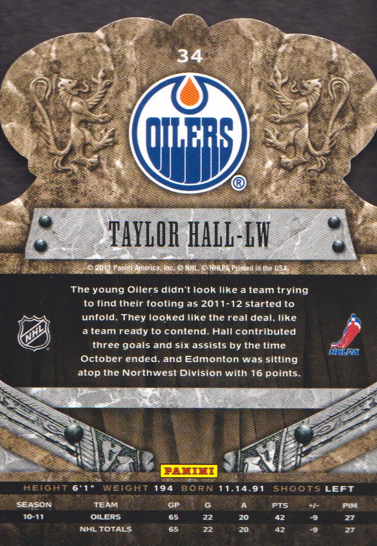 2011-12 Crown Royale #34 Taylor Hall back image