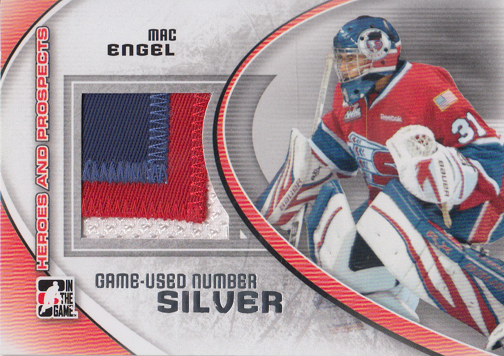 2011-12 ITG Heroes and Prospects Game Used Numbers Silver #M47 Mac Engel