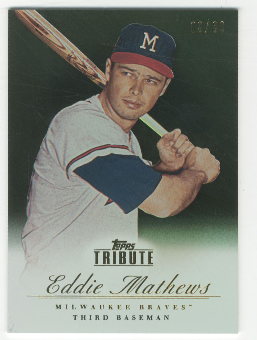 2012 Topps Tribute Black #12 Eddie Mathews