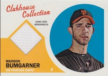2012 Topps Heritage Clubhouse Collection Relics #MB Madison Bumgarner