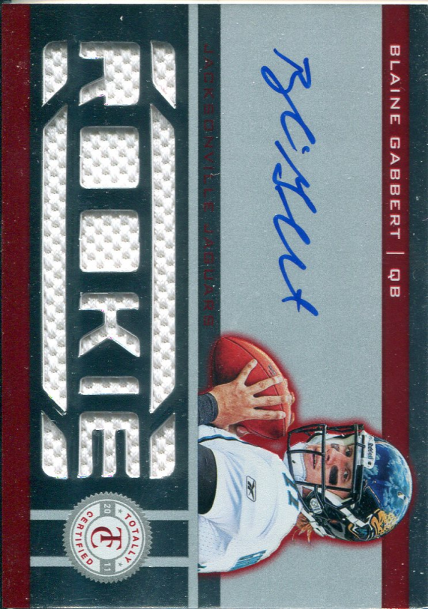 2011 Totally Certified Freshman Fabric Signatures Red #206 Blaine Gabbert JSY AU/200