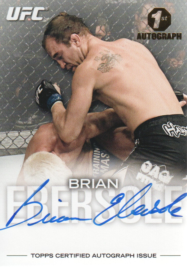 2012 Topps UFC Knockout Autographs #FABE Brian Ebersole/159