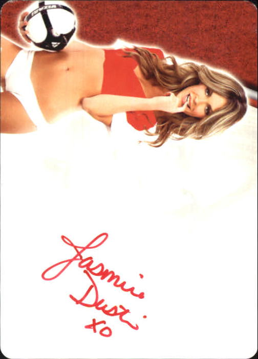 2012 Bench Warmer Soccer Autographs Printing Plates Back Black #16 Jasmine Dustin