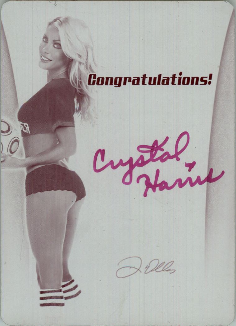 2012 Bench Warmer Soccer Jersey Swatches Printing Plates Back Magenta Autographs #6 Crystal Harris