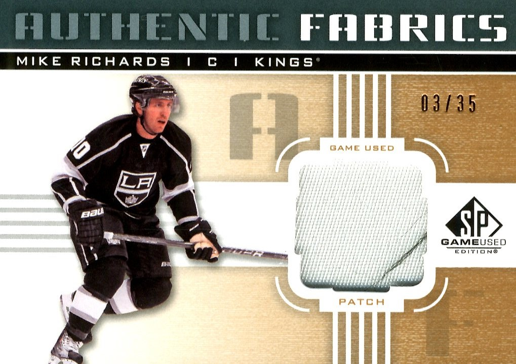 2011-12 SP Game Used Authentic Fabrics Patches #AFMR Mike Richards/35