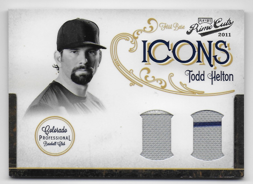 2011 Prime Cuts Icons Materials Combos #25 Todd Helton/25