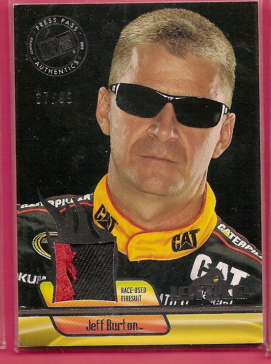 2012 Press Pass Ignite Materials Gun Metal #IMJB Jeff Burton