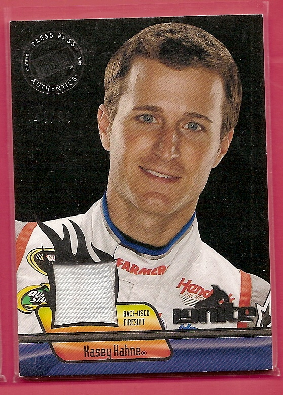 2012 Press Pass Ignite Materials Gun Metal #IMKK Kasey Kahne