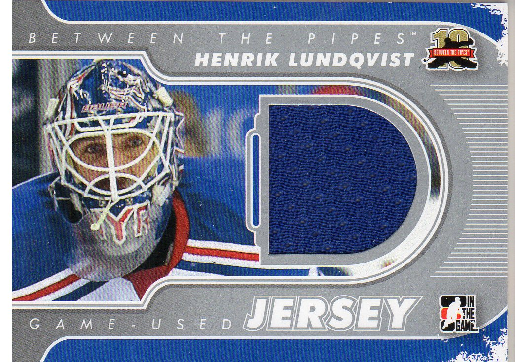 2011-12 Between The Pipes Jerseys Silver #M08 Henrik Lundqvist