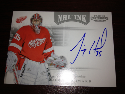 2011-12 Panini Contenders NHL Ink #17 Jimmy Howard SP
