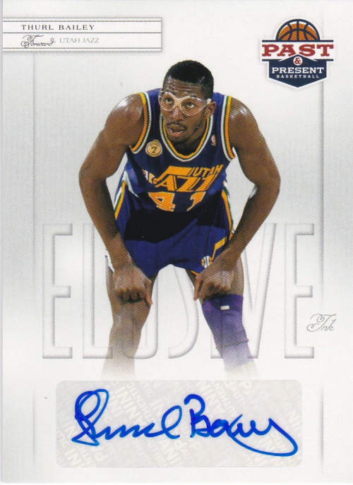 2011-12 Panini Past and Present Elusive Ink Autographs #TB Thurl Bailey