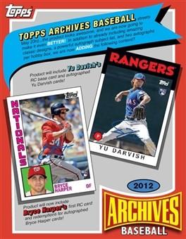 2012 Topps Archives Baseball Hobby Box