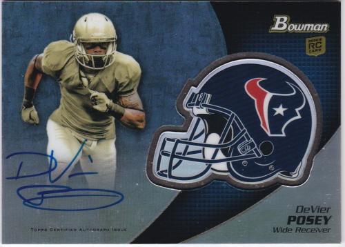2012 Bowman Rookie Team Helmet Autographs #BCRADP DeVier Posey