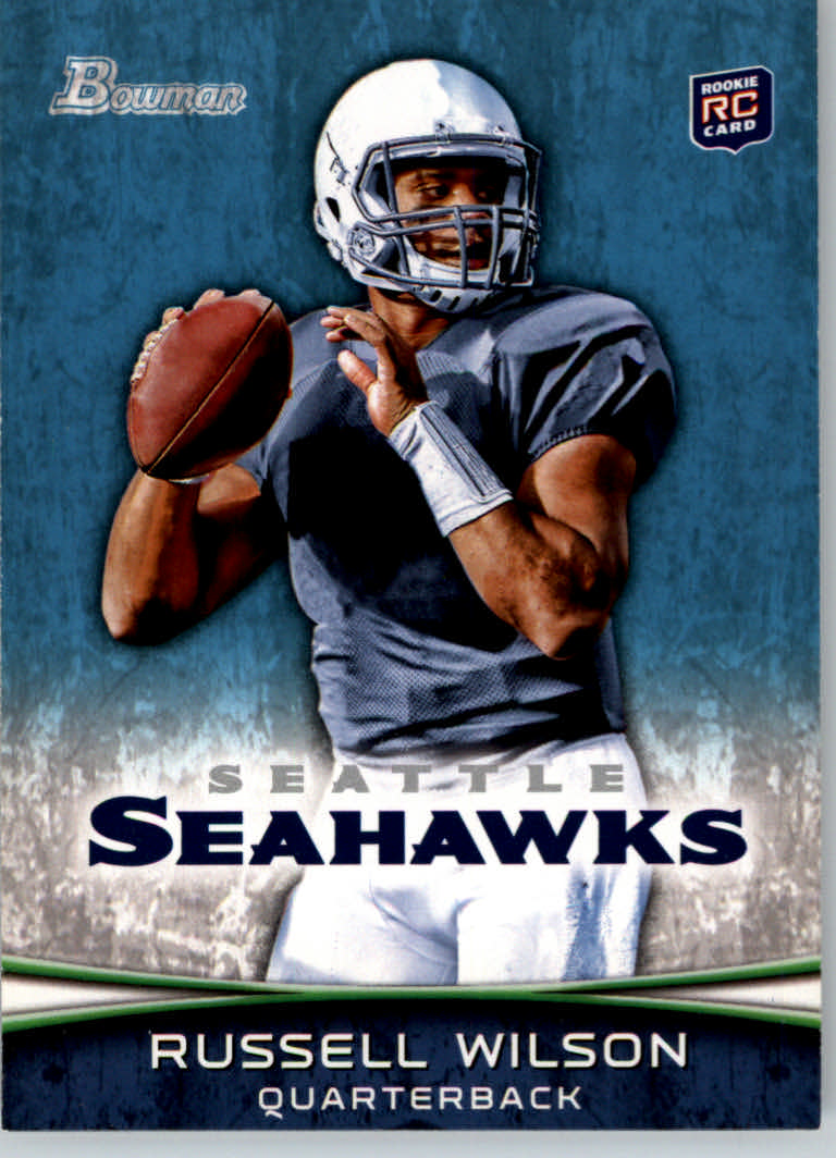 2012 Bowman #116A Russell Wilson RC/set to pass