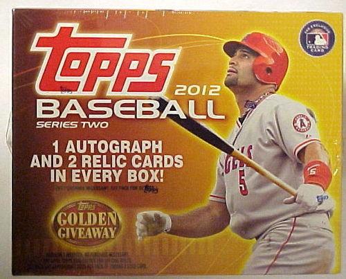 2012 Topps Baseball Jumbo Box Series 2