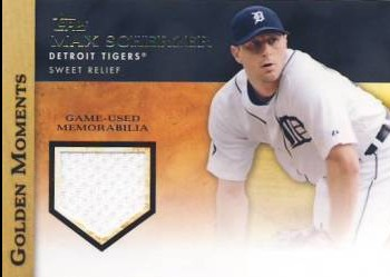 2012 Topps Golden Moments Relics #MS Max Scherzer S2