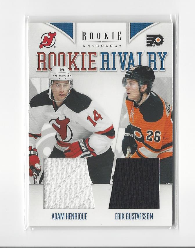 purchase cheap 59666 afbc2 Details about 2011-12 Rookie Anthology Rookie Rivalry Adam Henrique/Erik  Gustafsson JERSEY