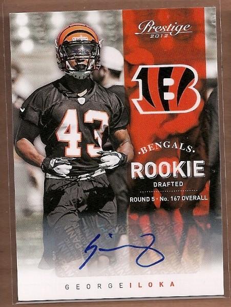 2012 Prestige Rookie Autographs #225 George Iloka/899
