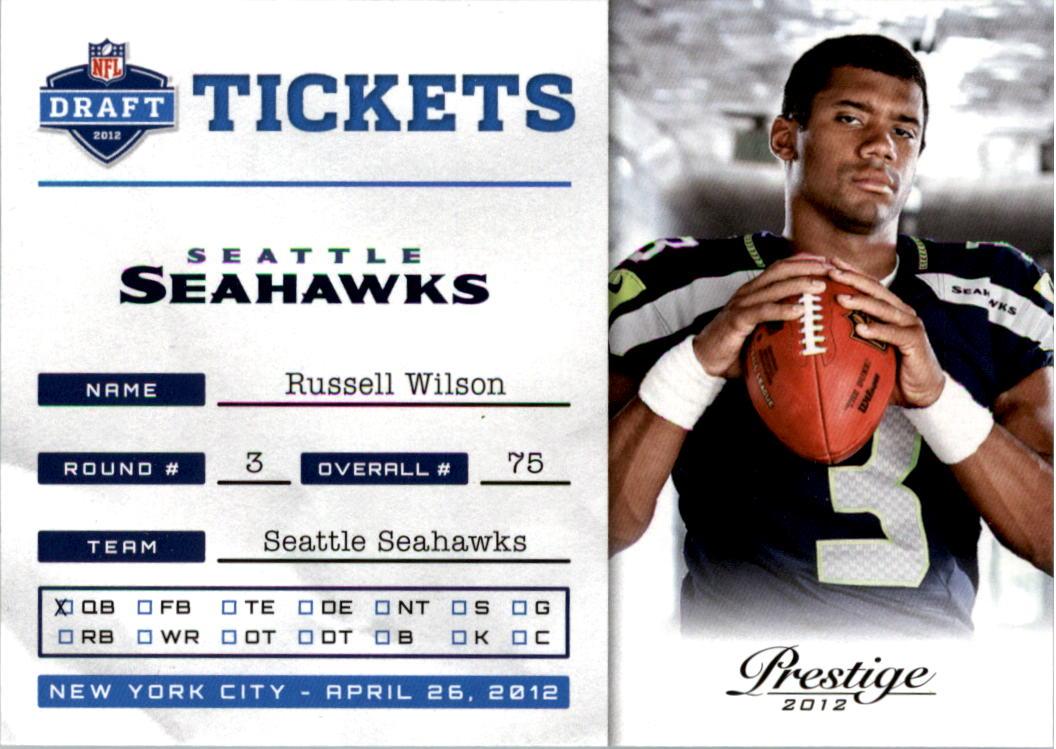 2012 Prestige NFL Draft Tickets #31 Russell Wilson