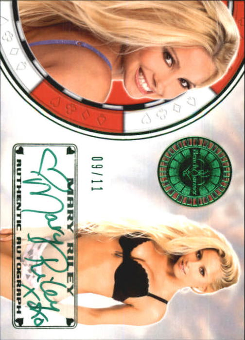 2012 Bench Warmer Vegas Baby Autographs Green Foil #32 Mary Riley