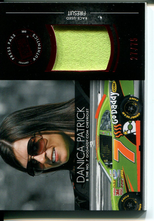 2012 Press Pass Redline Relics Red #RLDP2 Danica Patrick NNS/75