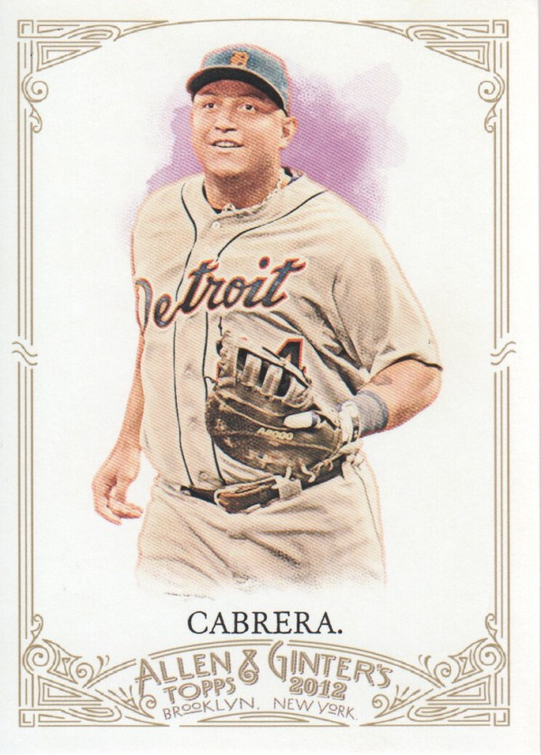 2012 Topps Allen and Ginter #3 Miguel Cabrera