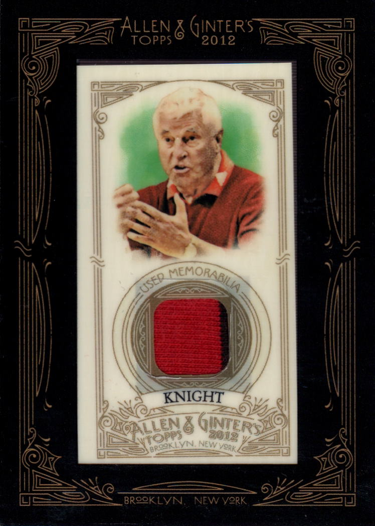 2012 Topps Allen and Ginter Relics #BK Bob Knight