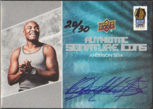 2012 Upper Deck Industry Summit Signature Icons Autographs #LVAS Anderson Silva/30